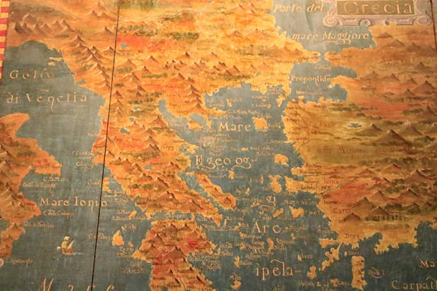 Atene-Museo-Benaki - Mappa Grecia