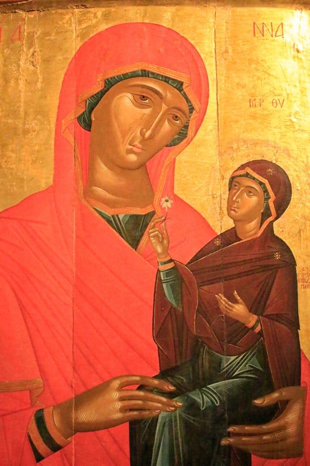 Atene-Museo-Benaki - Icona-di-Sant'Anna-e-la-Vergine