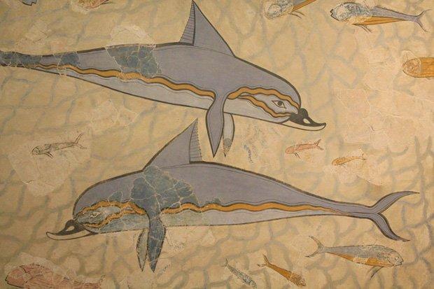 Affresco-dei-Delfini - Museo Archeologico di Heraklion Creta