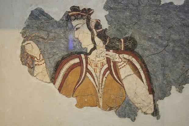 Dipinti-a-muro-del-XIV-XIII-Sec-a.C.-Acropoli-di-Tirinto_ Museo Archeologico Nazionale di Atene