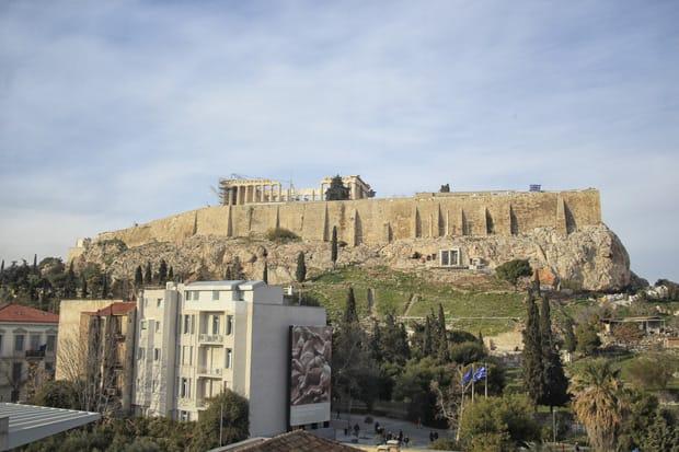 Atene Museo dell'Acropoli - Veduta su Acropoli
