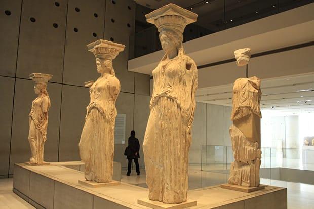 Cariatidi Museo Archeologico Atene Acropoli