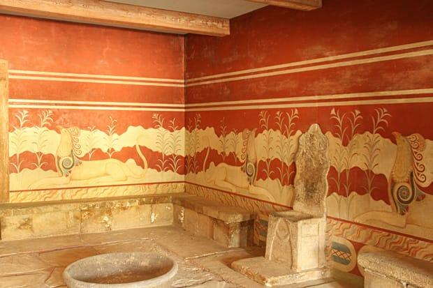 Sala-del-trono Palazzo di Cnosso - Heraklion - Creta - Grecia